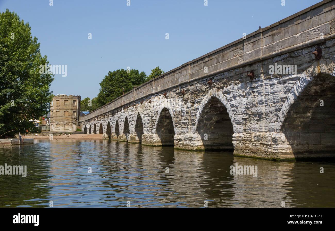 Clopton Bridge in Stratford Upon Avon - Stock Image