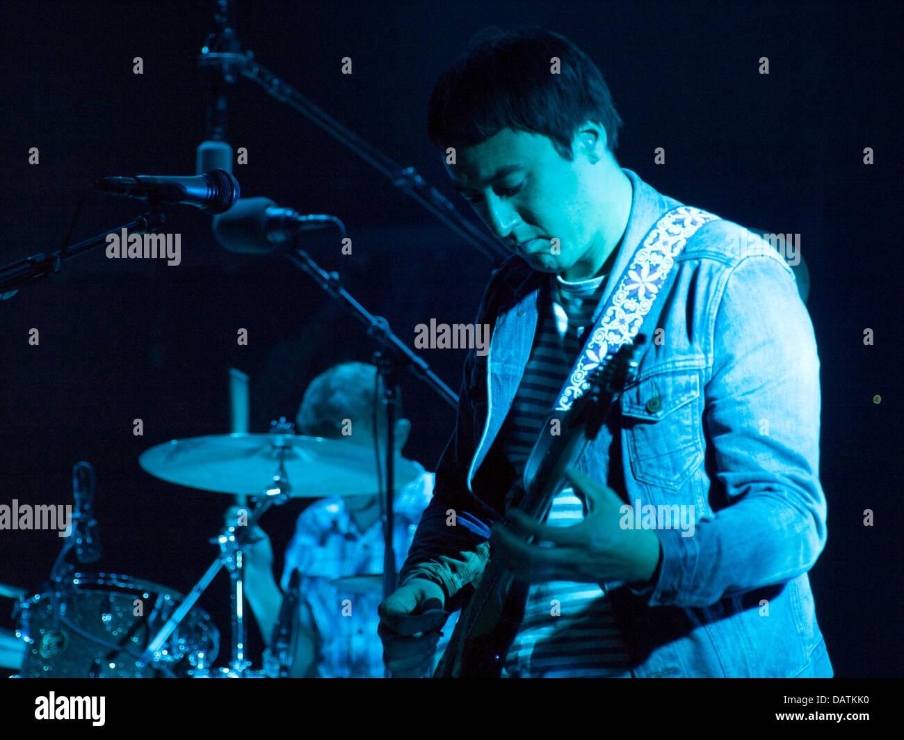 Oporto, Portugal, 18th July, Meo Mares Vivas - Music Festival, Palco Meo, american band The Smashing Pumpkins, Jeff - Stock Image