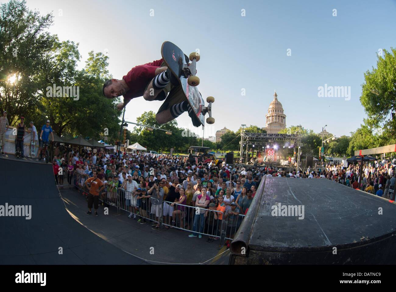June 5, 2013 - Skateboarder CORY THORNHILLfrontside airs during a bid to host the summer X Games outside the State - Stock Image