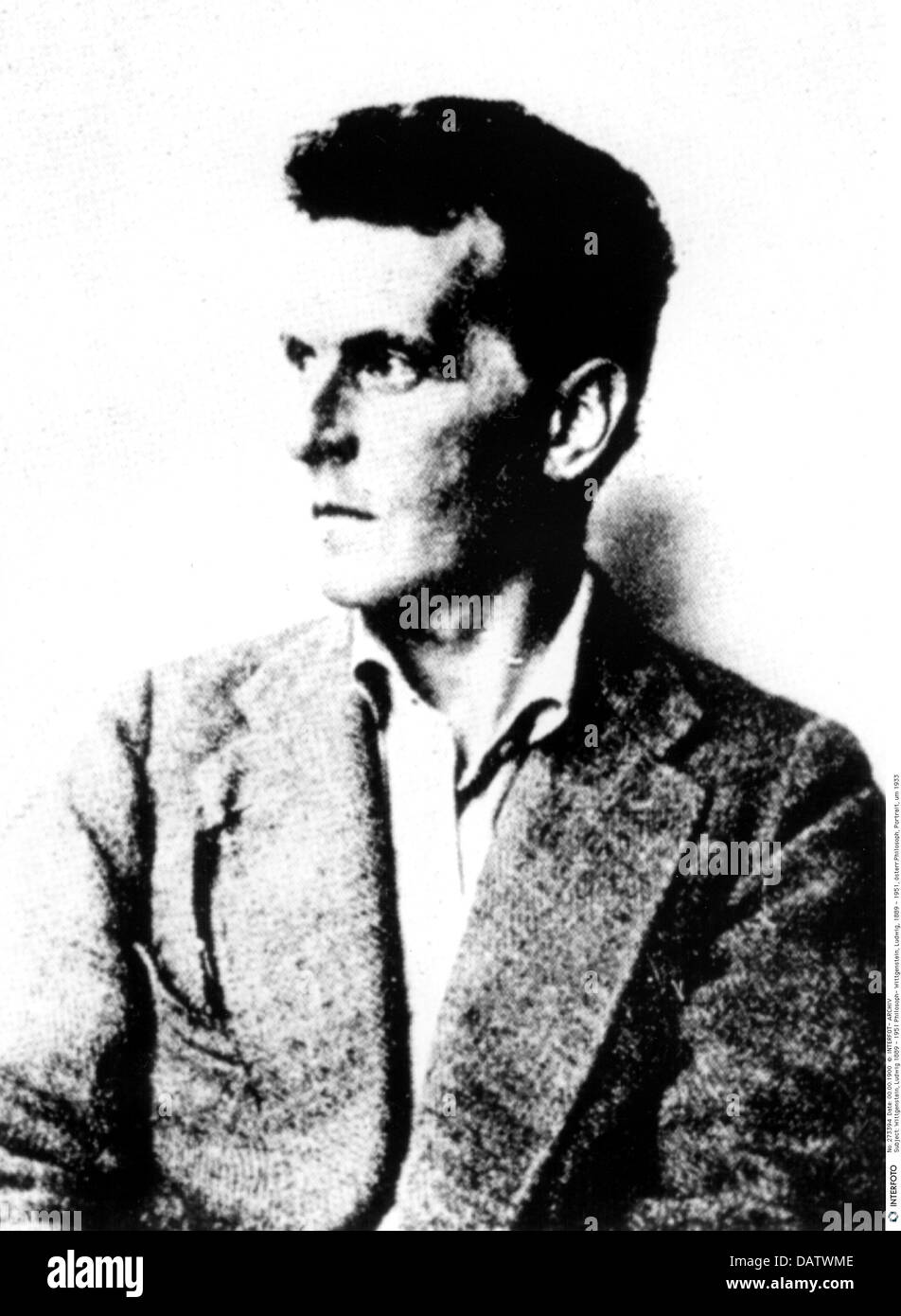 Wittgenstein, Ludwig, 26.4.1889 - 29.4.1951, Austrian philosopher, portrait, circa 1933, , Additional-Rights-Clearances - Stock Image