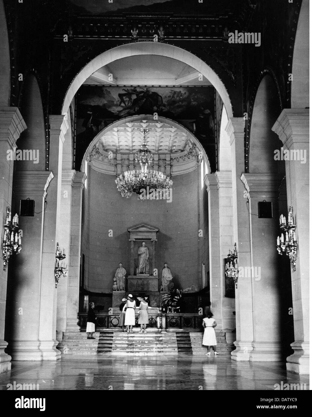geography / travel, Venezuela, Caracas, National Pantheon, interior view, tomb of Simon Bolivar, 1950s,  50s, South - Stock Image