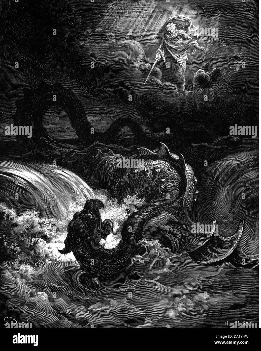 "religion, biblical scenes, ""Destruction of Leviathan ..."