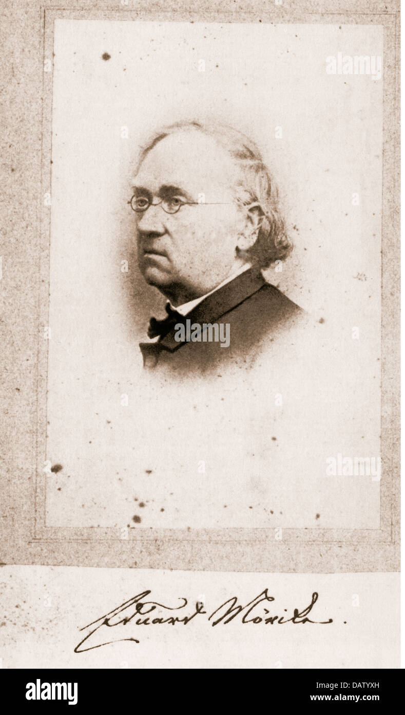 Moerike, Eduard, 8.9.1804 - 4.6.1875, German author / writer, portrait, photograph by H. Kayser, 1867, Additional - Stock Image
