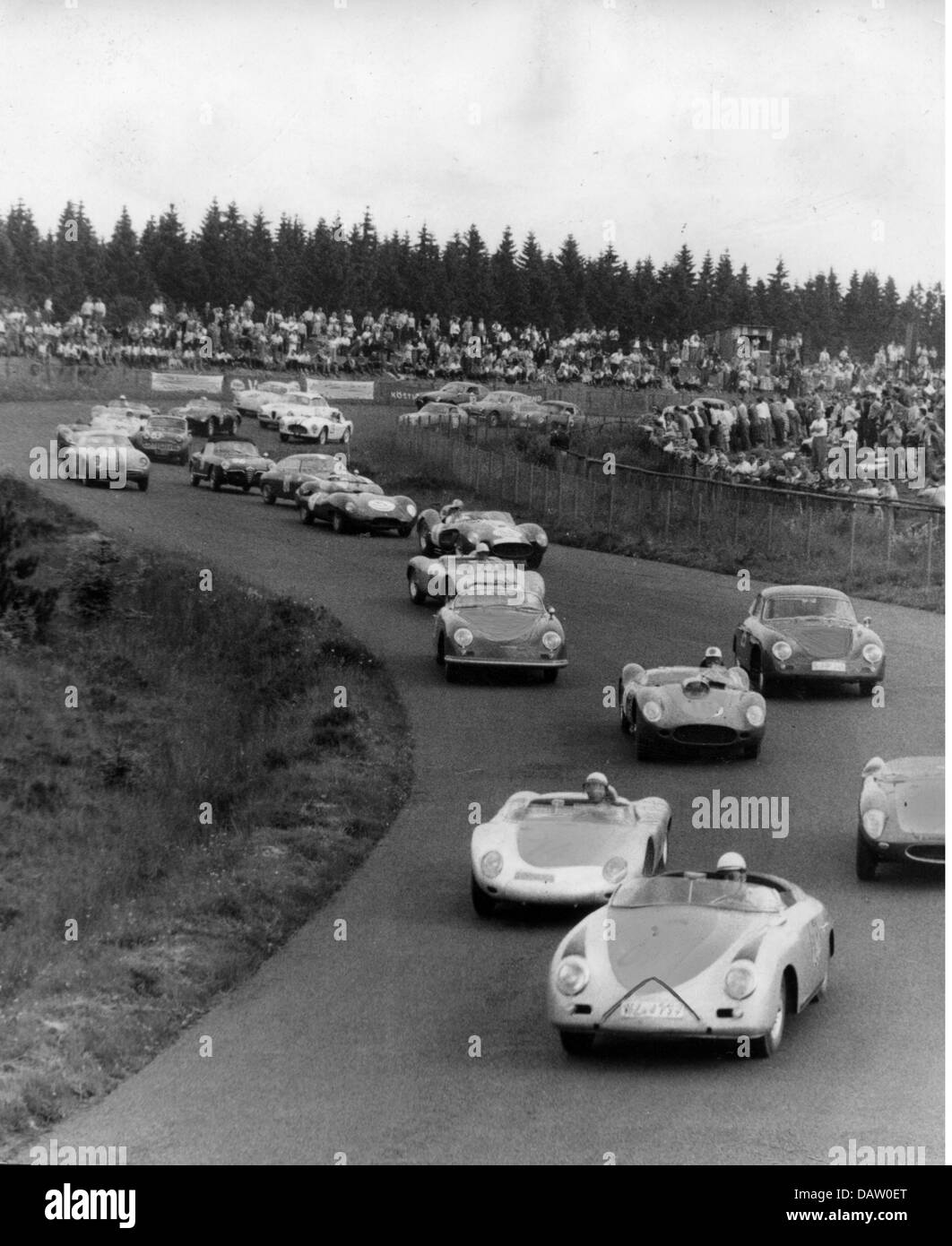 Sport, Car Racing, Race, 1950s, 50s, Cars, 20th Century, Historic,  Historical,