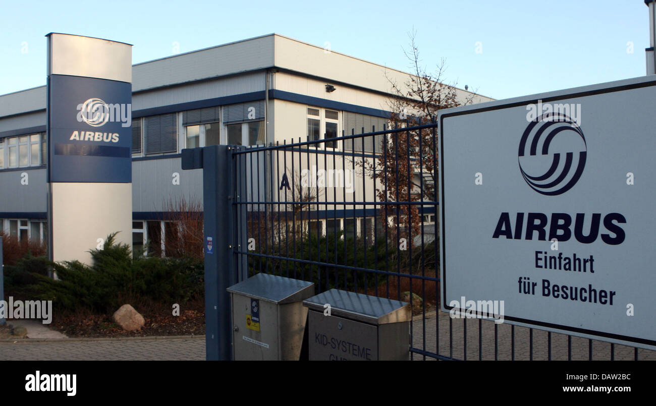 The picture shows the entrance to the Airbus plant Buxtehude, Germany, Tuesday, 06 February 2007. The recapitalization - Stock Image