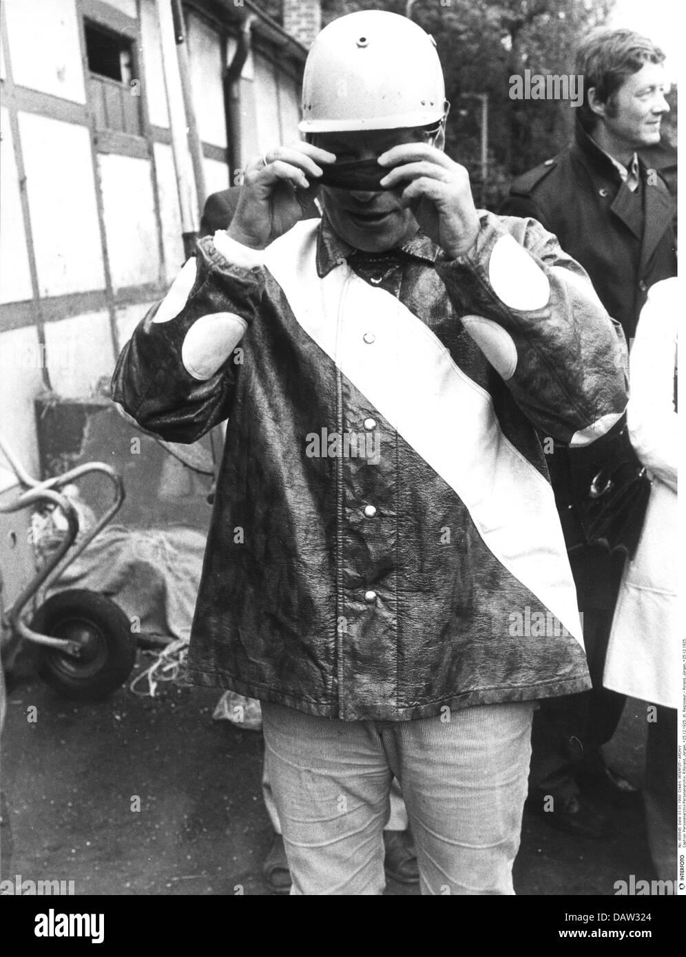 Roland, Juergen, 25.12.1925 - 21.9.2007, German director, half length, celebrity trotting race, Hamburg, 1972, 1970s, - Stock Image