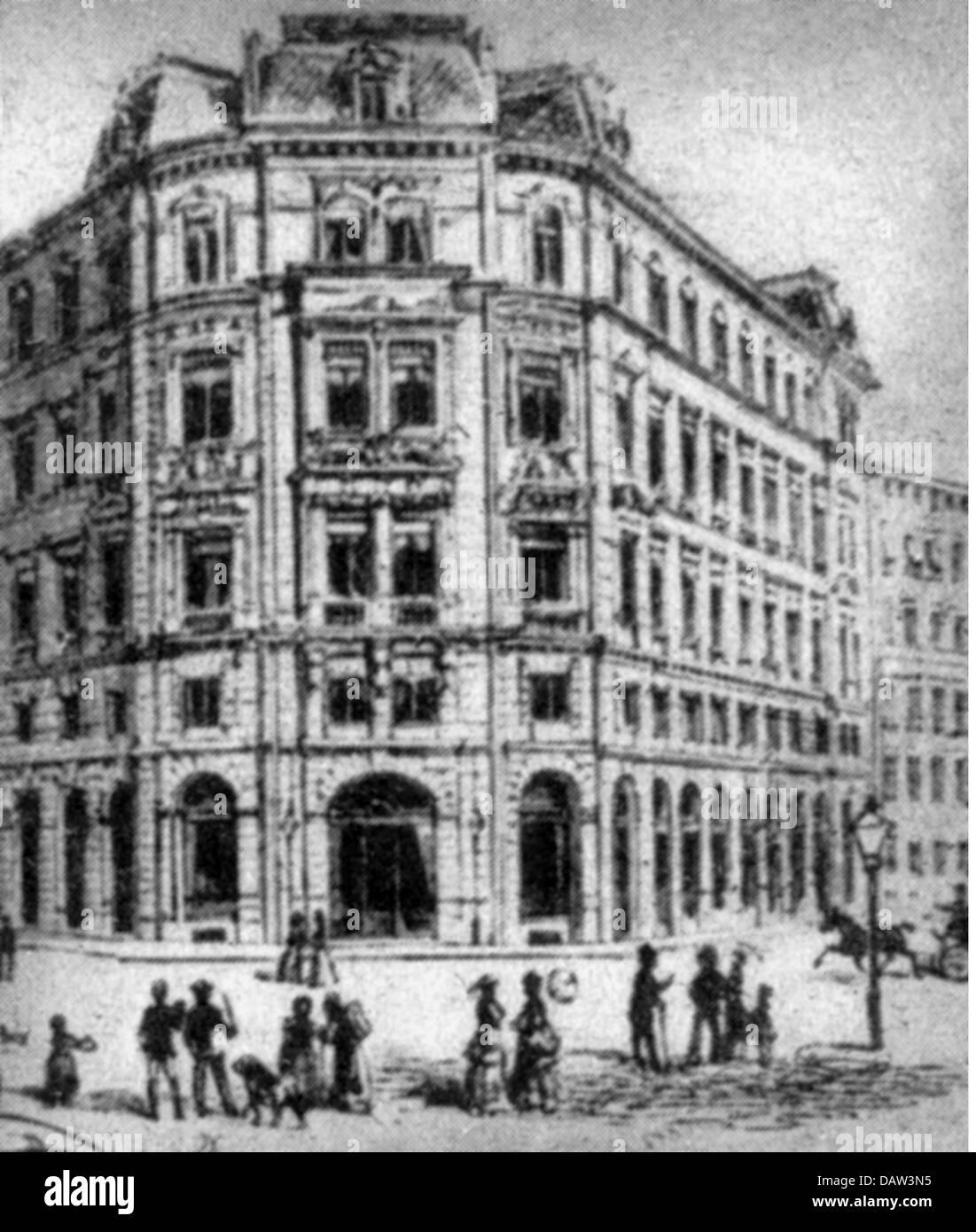 geography / travel, Germany, Leipzig, buildings, headquarters of the 'Lebensversicherungsgesellschaft zu Leipzig', - Stock Image