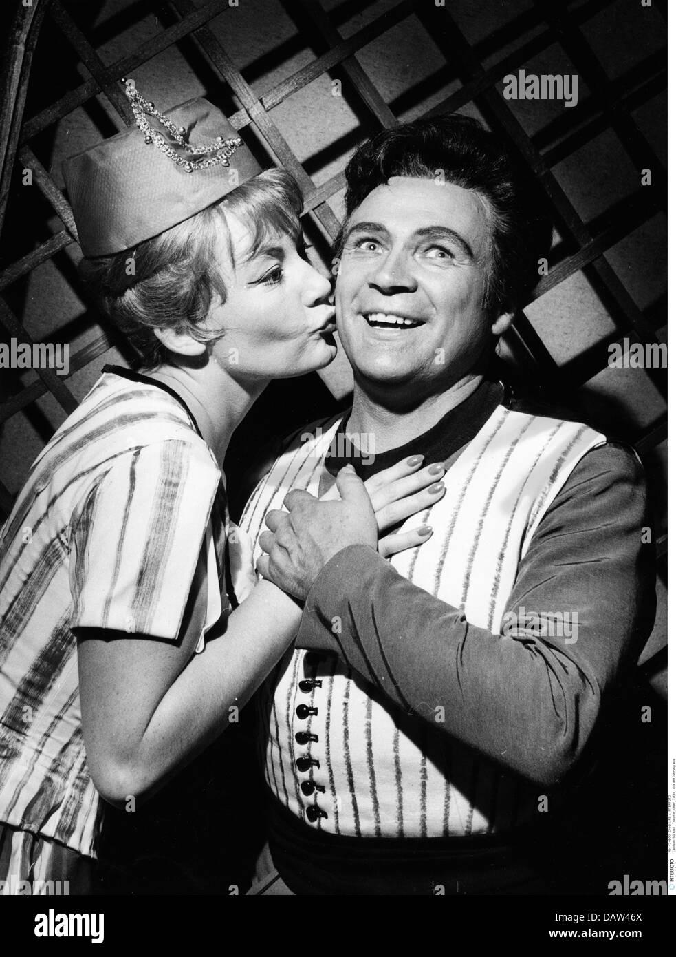 theatre, opera, 'The Abduction from the Seraglio', production: Karlheinz Haberland, Salzburg, 1963, scene - Stock Image