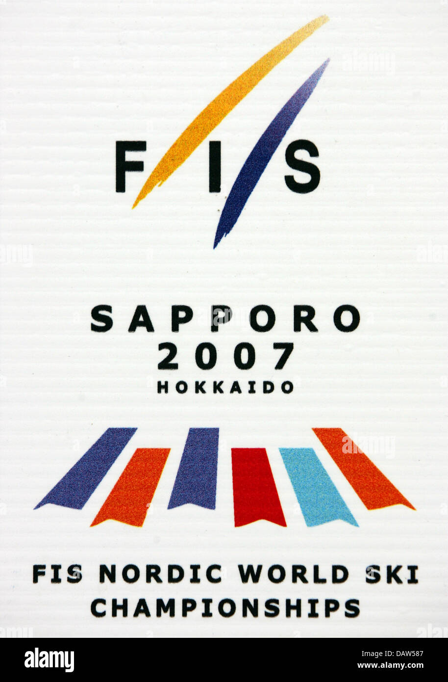 The photo shows the logo of the 'FIS Nordic World Ski Championships 2007' in Sapporo, Japan, Wednesday, - Stock Image