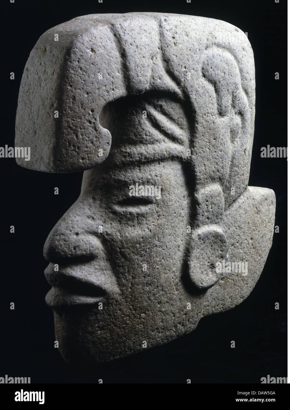 fine arts, Mesoamerica, stone sculpture, probably Aztec original, Mexico, 10th - 15th century, Aztec, Aztecs, Central Stock Photo