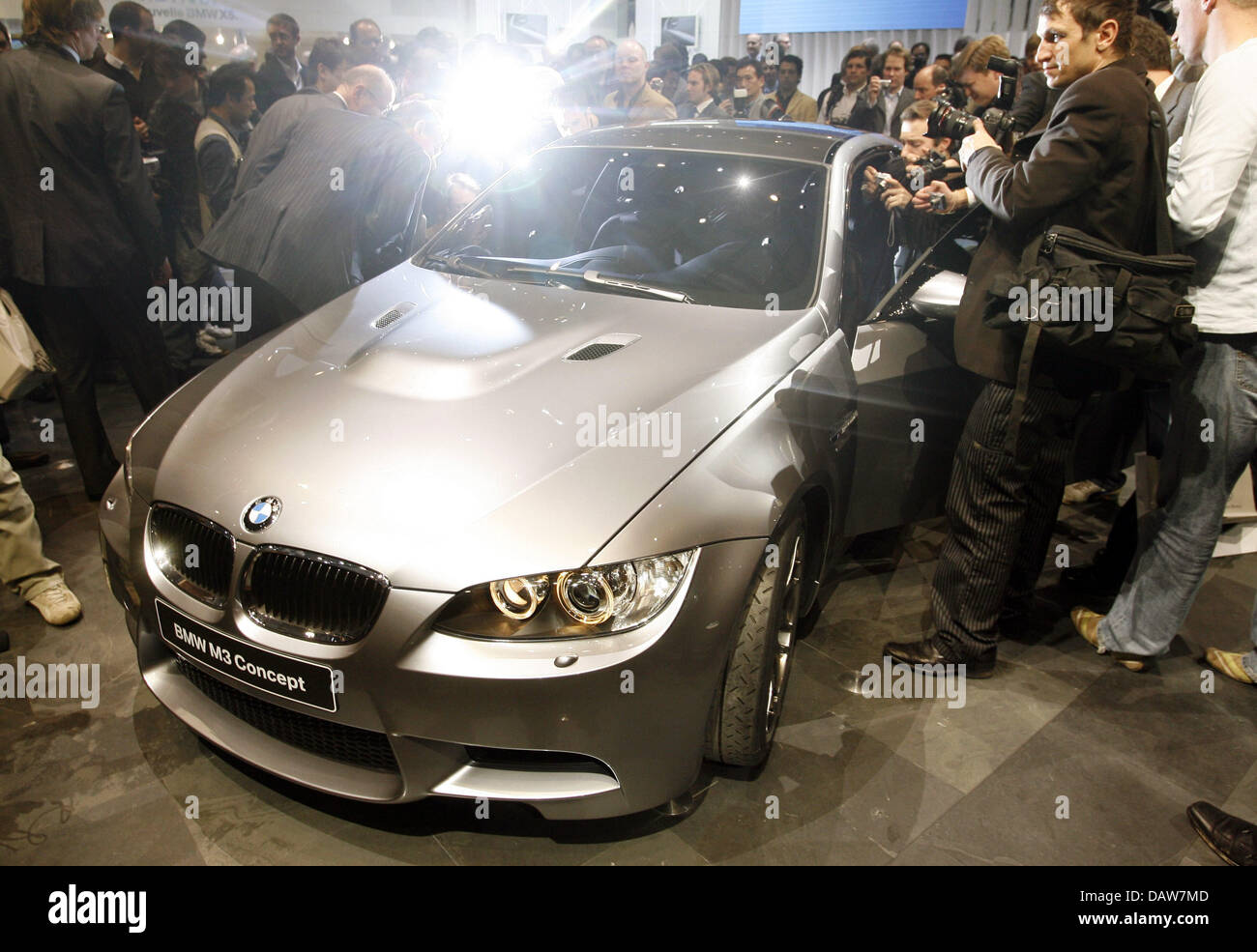 The new BMW M3 Concept is presented at the Geneva Motor Show in ...