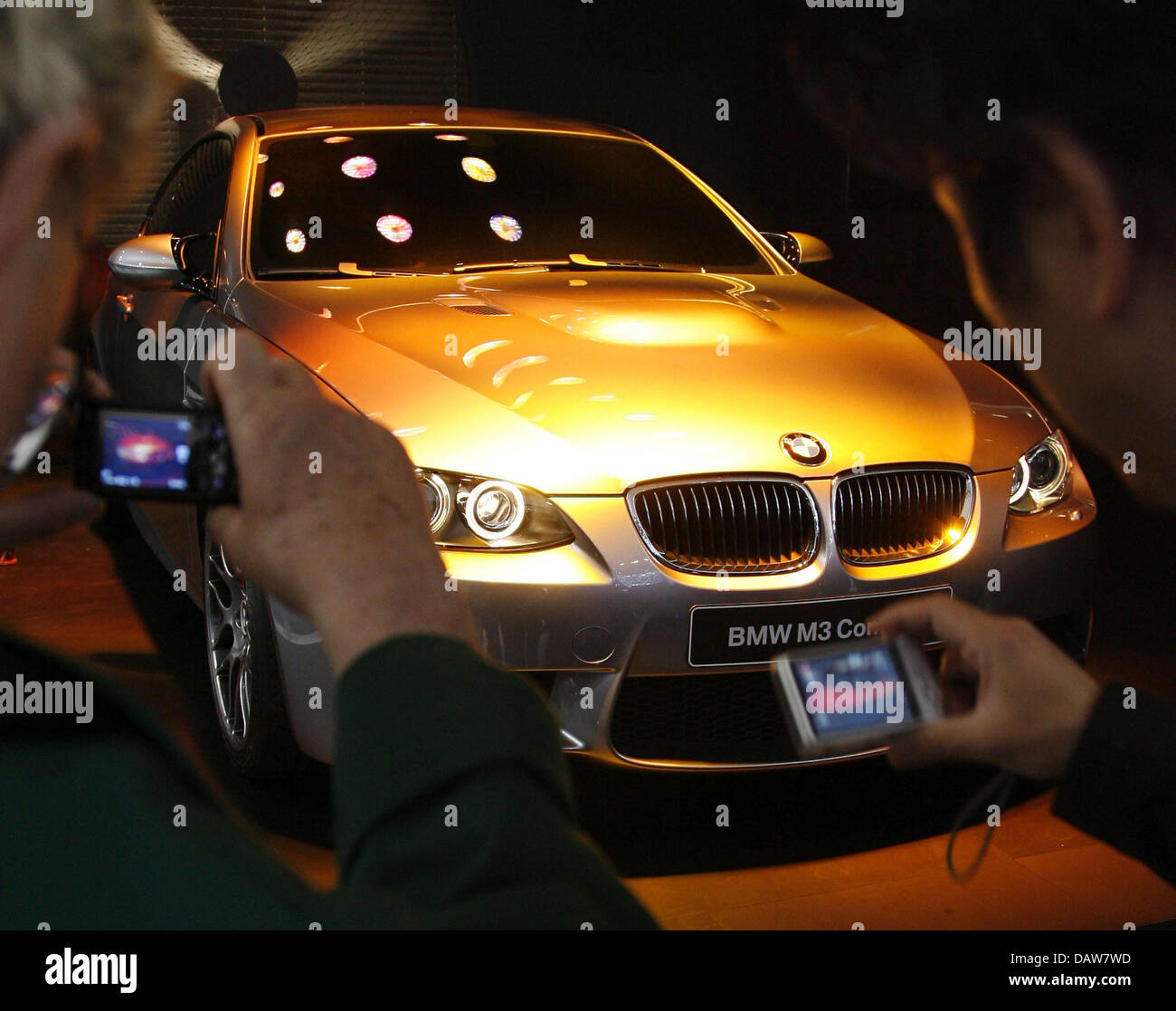 A BMW M3 Concept is on display at the Geneva Motor Show in Geneva ...