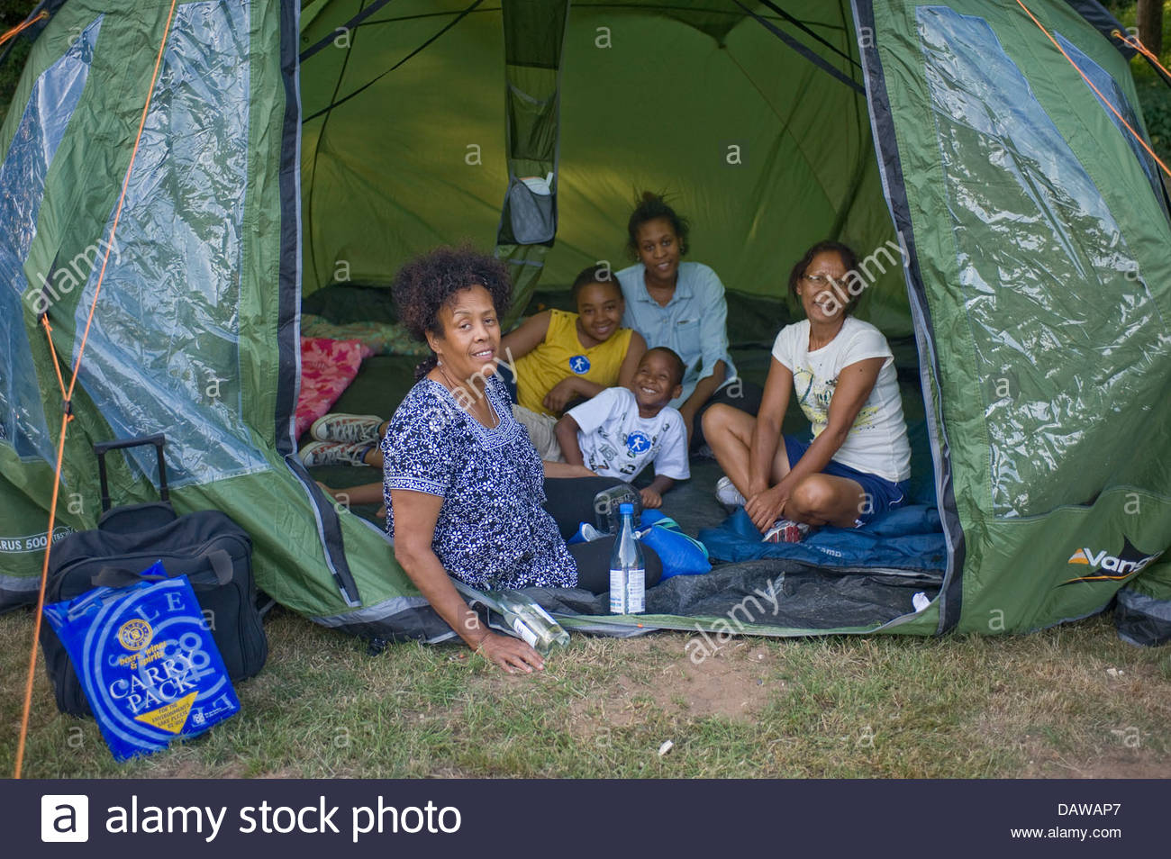A British Black Family Going Camping For The First Time