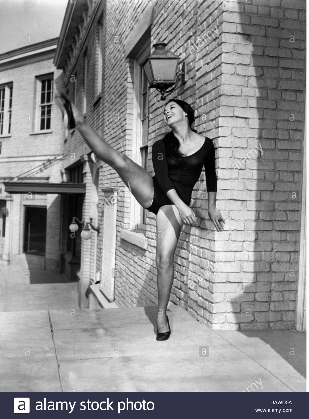 Nuyen, France, * 31.7.1939, French actress, full length, dancing, circa 1960, Additional-Rights-Clearances-NA - Stock Image