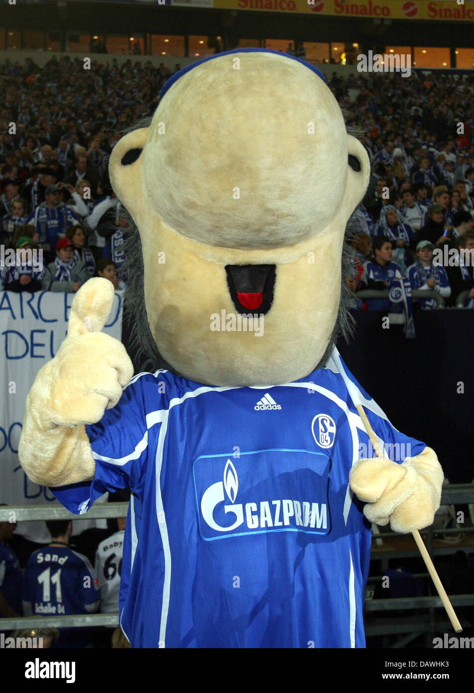 Erwin The Mascot Of Bundeliga Club Fc Schalke 04 Pictured During Stock Photo Alamy