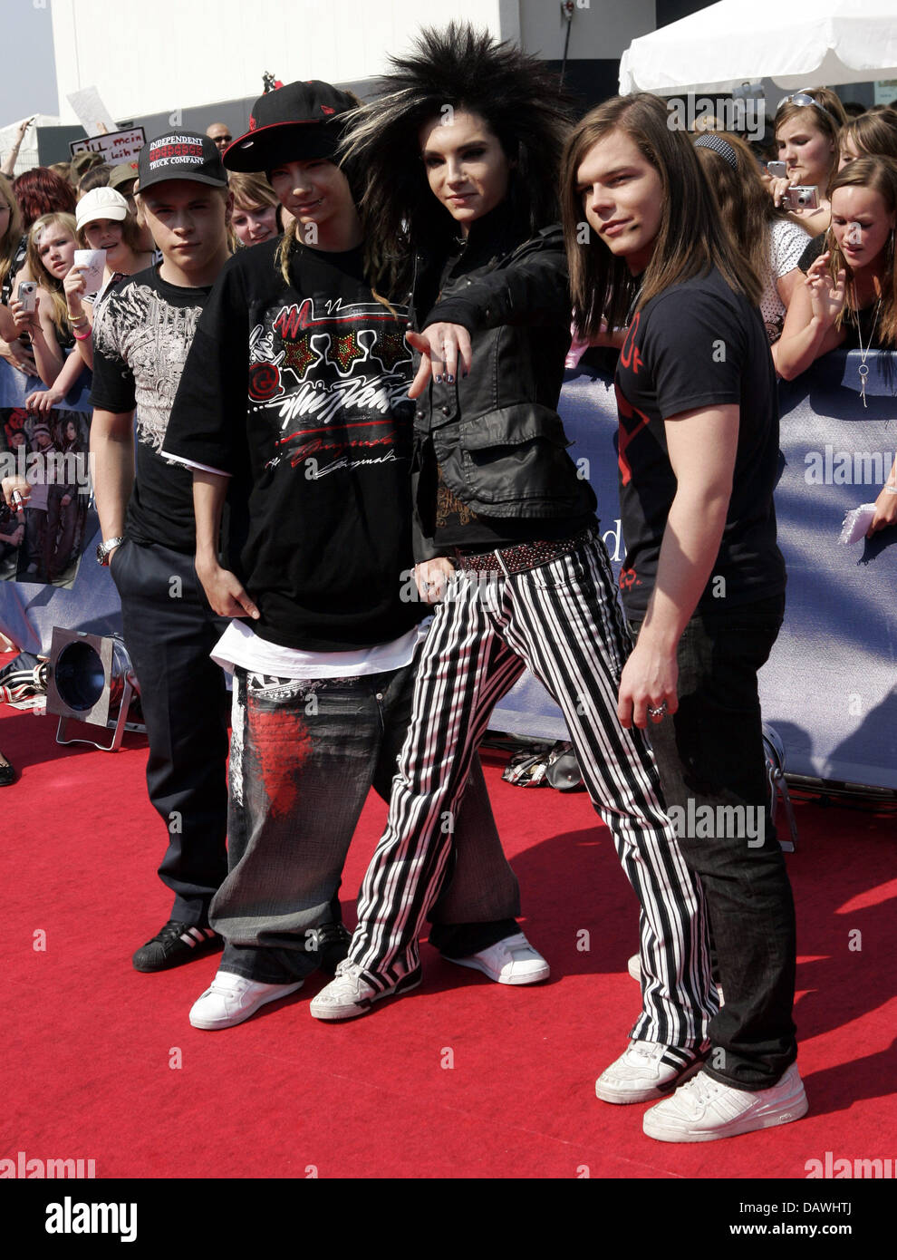 German Band Tokio Hotel Poses Prior To The Bravo Supershow At The