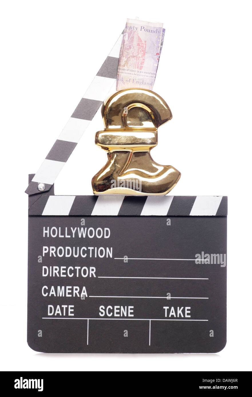 making money in the film industry cutout - Stock Image