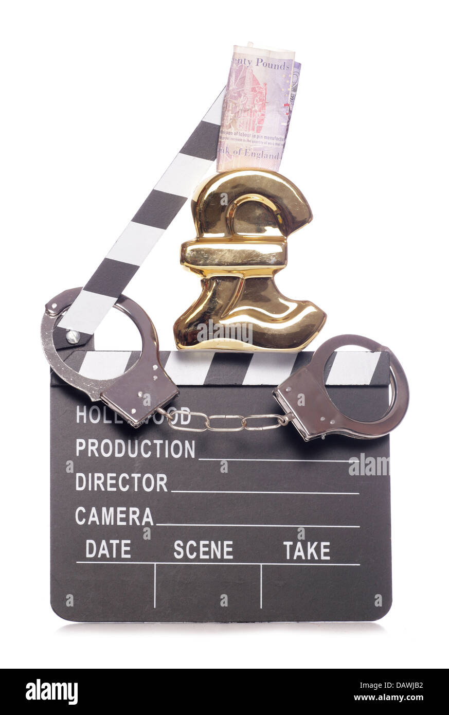 Piracy in the film industry costing money cutout - Stock Image