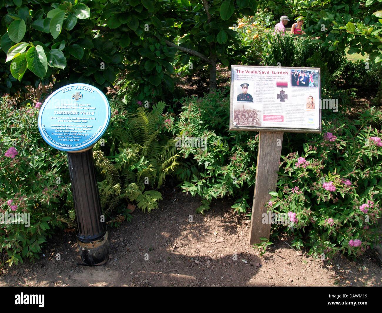 The Veale / Savill Garden, Information Sign, Dartmouth, Devon, UK 2013