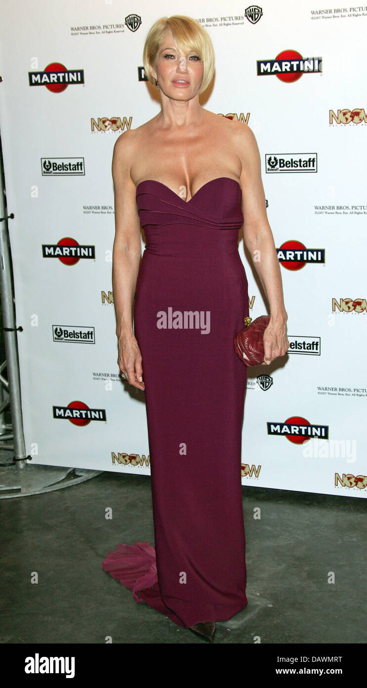 US actress Ellen Barkin poses for the cameras as she arrives to the 'Martini World Premiere Party' for the - Stock Image