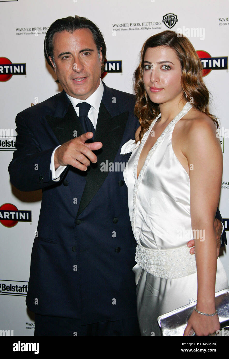 US actor Andy Garcia (L) and his daughter pose for the cameras as they arrive to the 'Martini World Premiere - Stock Image