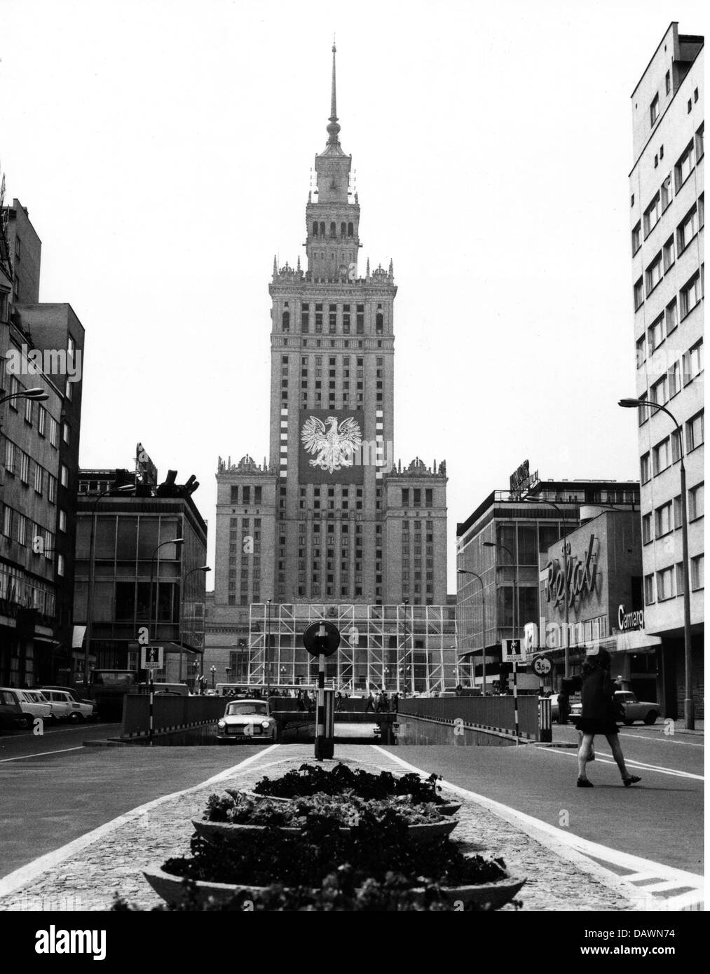 geography / travel, Poland, Warsaw, buildings, Palace of Culture and Science, built 1952 - 1955, architect: Lev Stock Photo