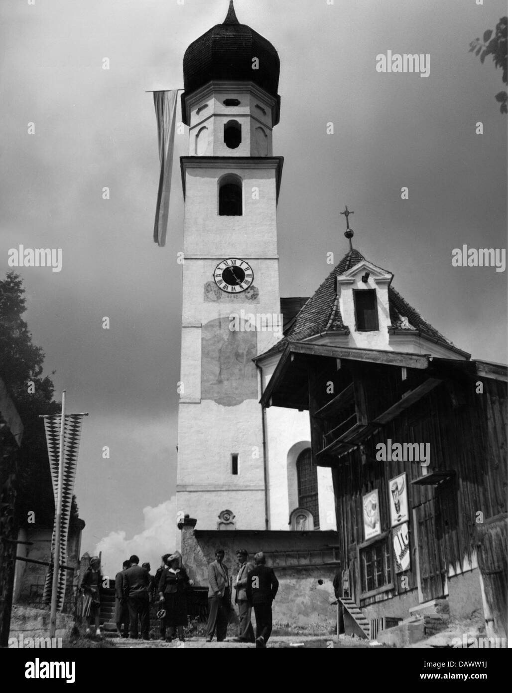 religion, christianity, pilgrimage, motorists pilgrimage, village Sankt Christoph, community Steinhoering, Ebersberg - Stock Image