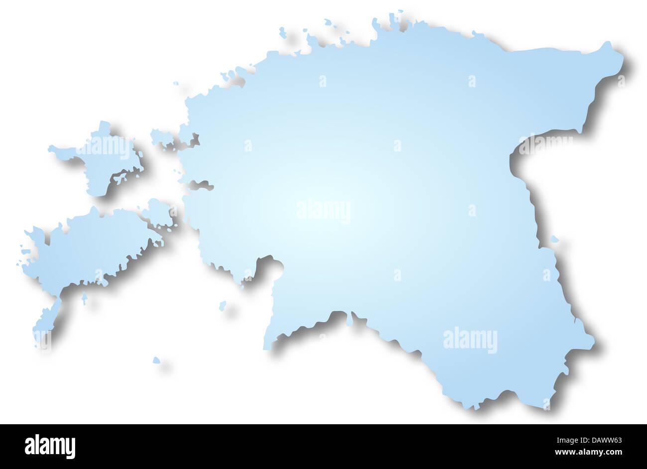 Map of Estonia - Stock Image