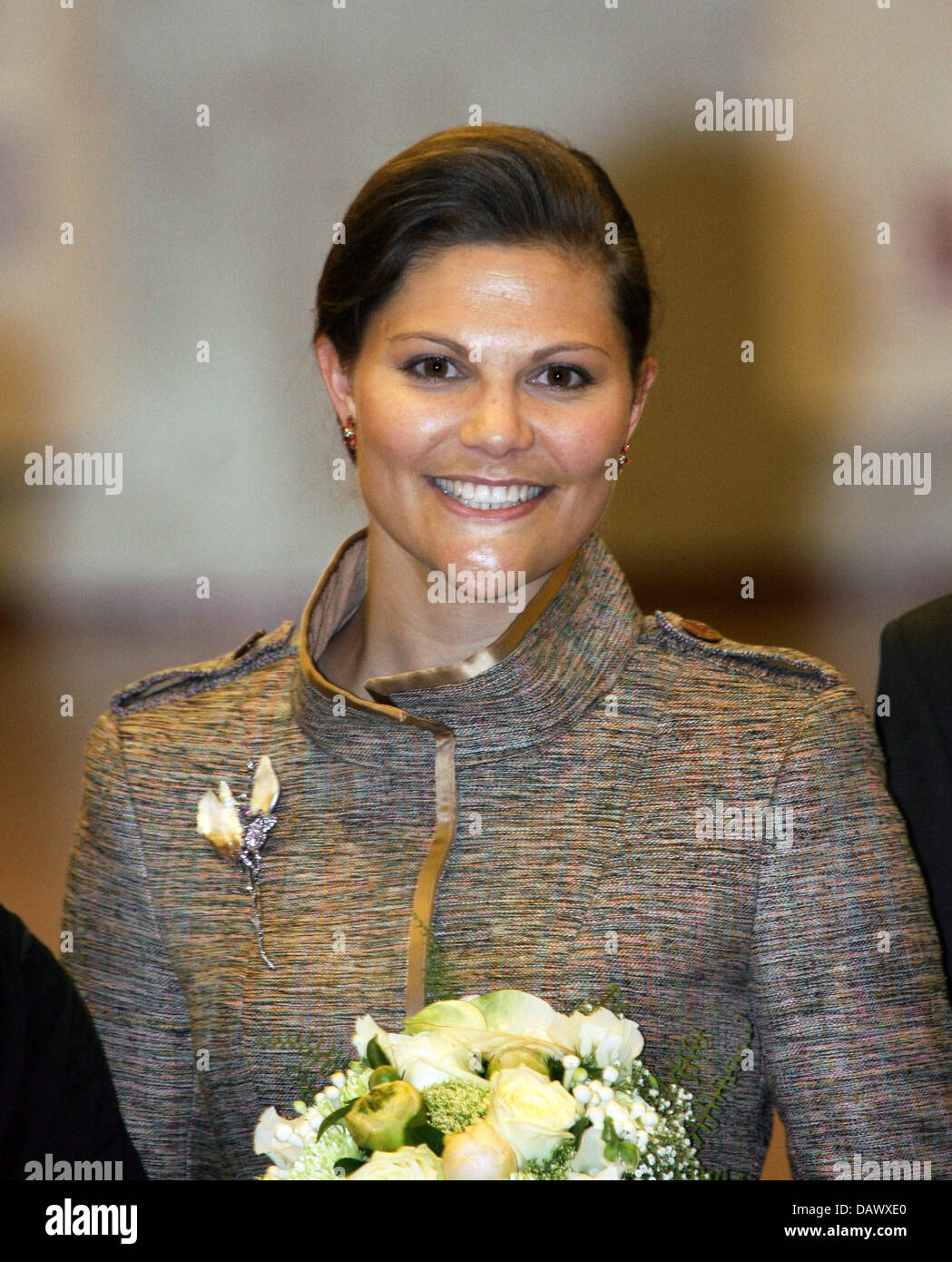 Swedish Crown Braid Tutorial: Swedish Crown Princess Victoria Gala Stock Photos