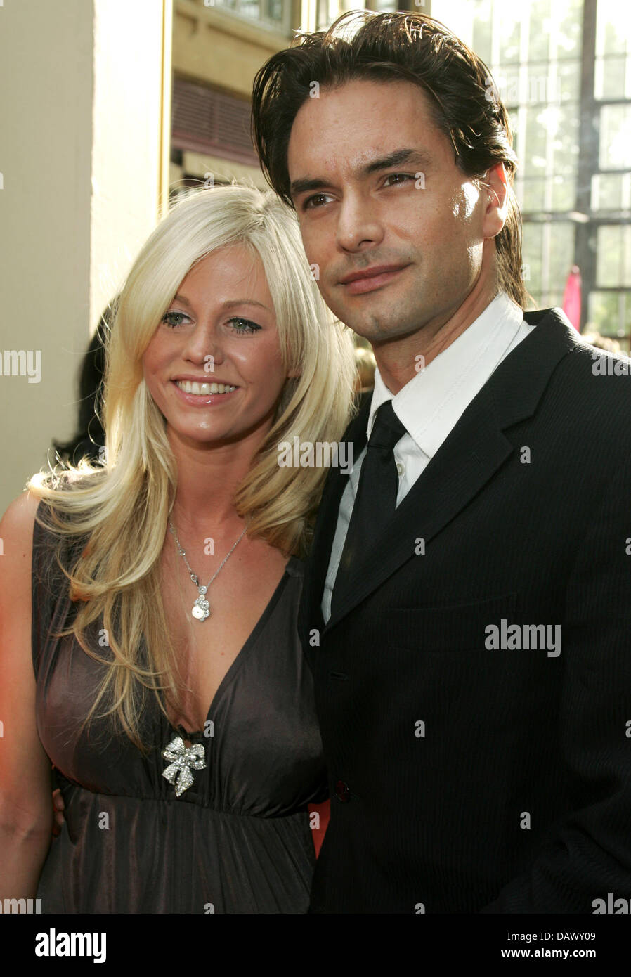 Model marcus schenkenberg and his girlfriend laureen pose at the model marcus schenkenberg and his girlfriend laureen pose at the annual unesco children in need gala in cologne germany 12 may 2007 altavistaventures Image collections