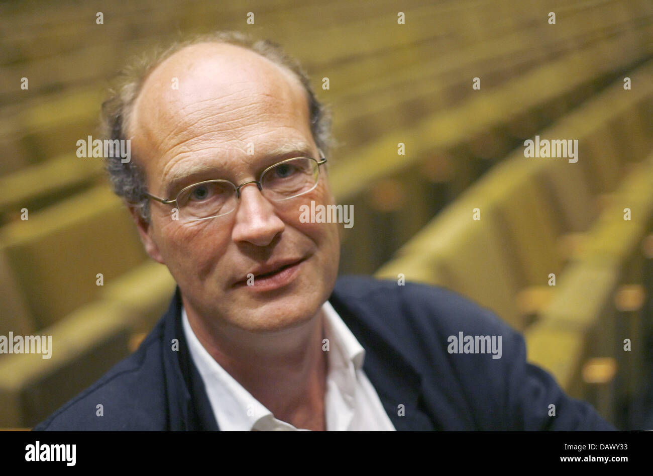 Chief dramaturg of the Burgtheatre in Vienna, Joachim Lux, is pictured in Berlin, Germany, Saturday, 12 May 2007. Stock Photo