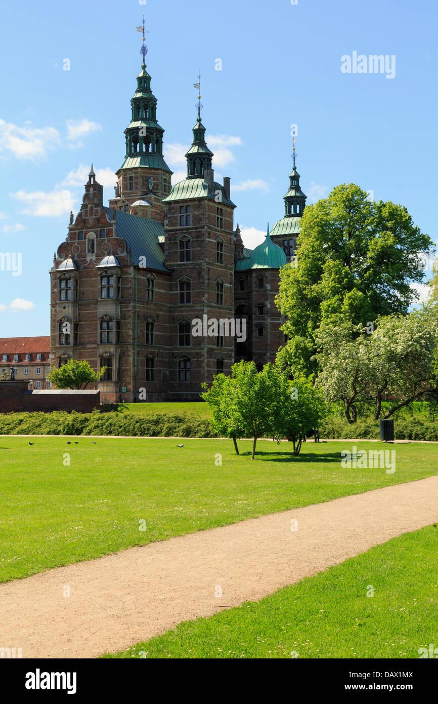 Rosenborg Castle in King's Garden established in Renaissance style during reign of King Christian IV. Copenhagen Stock Photo