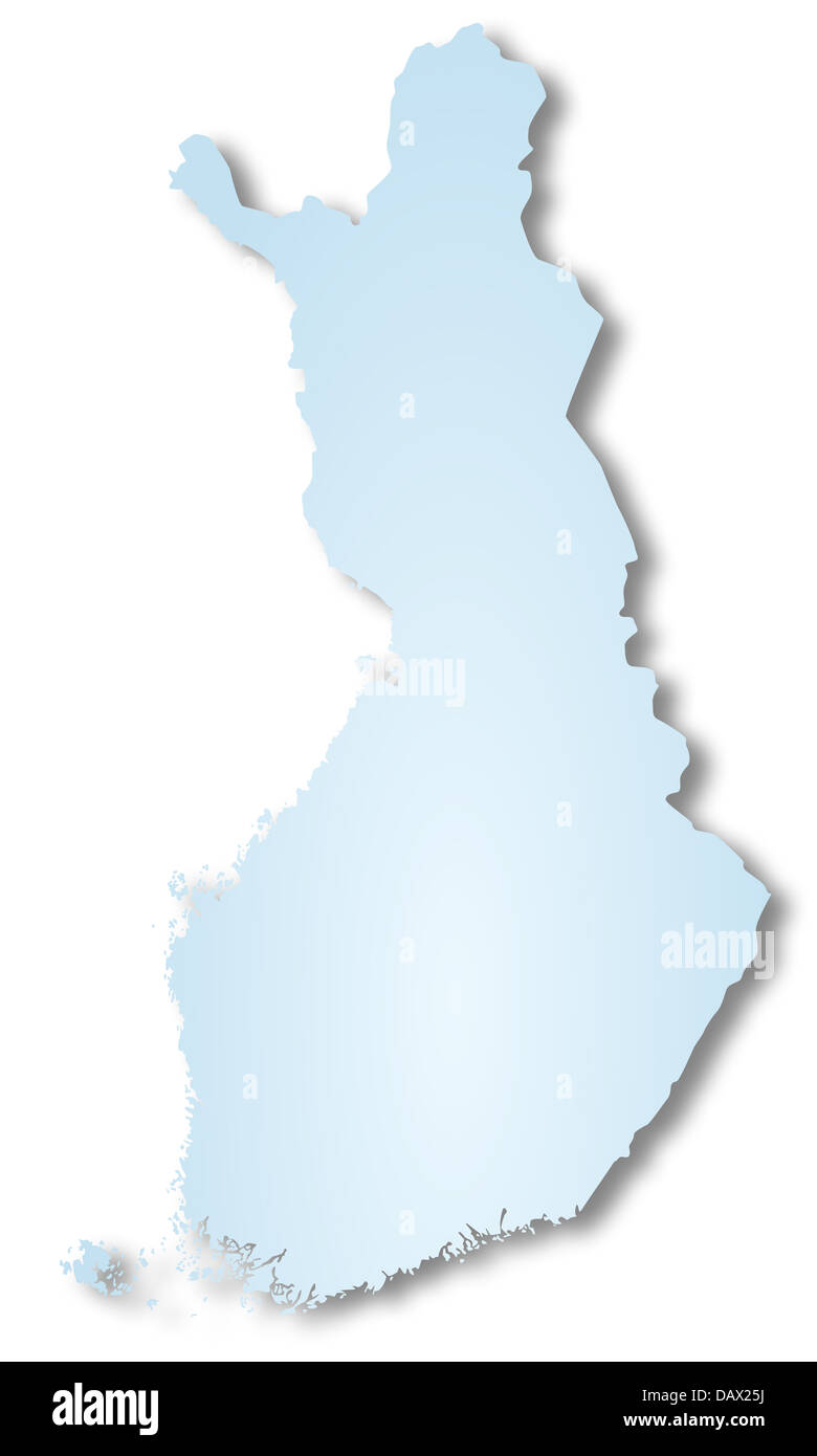 Map of Finland - Stock Image