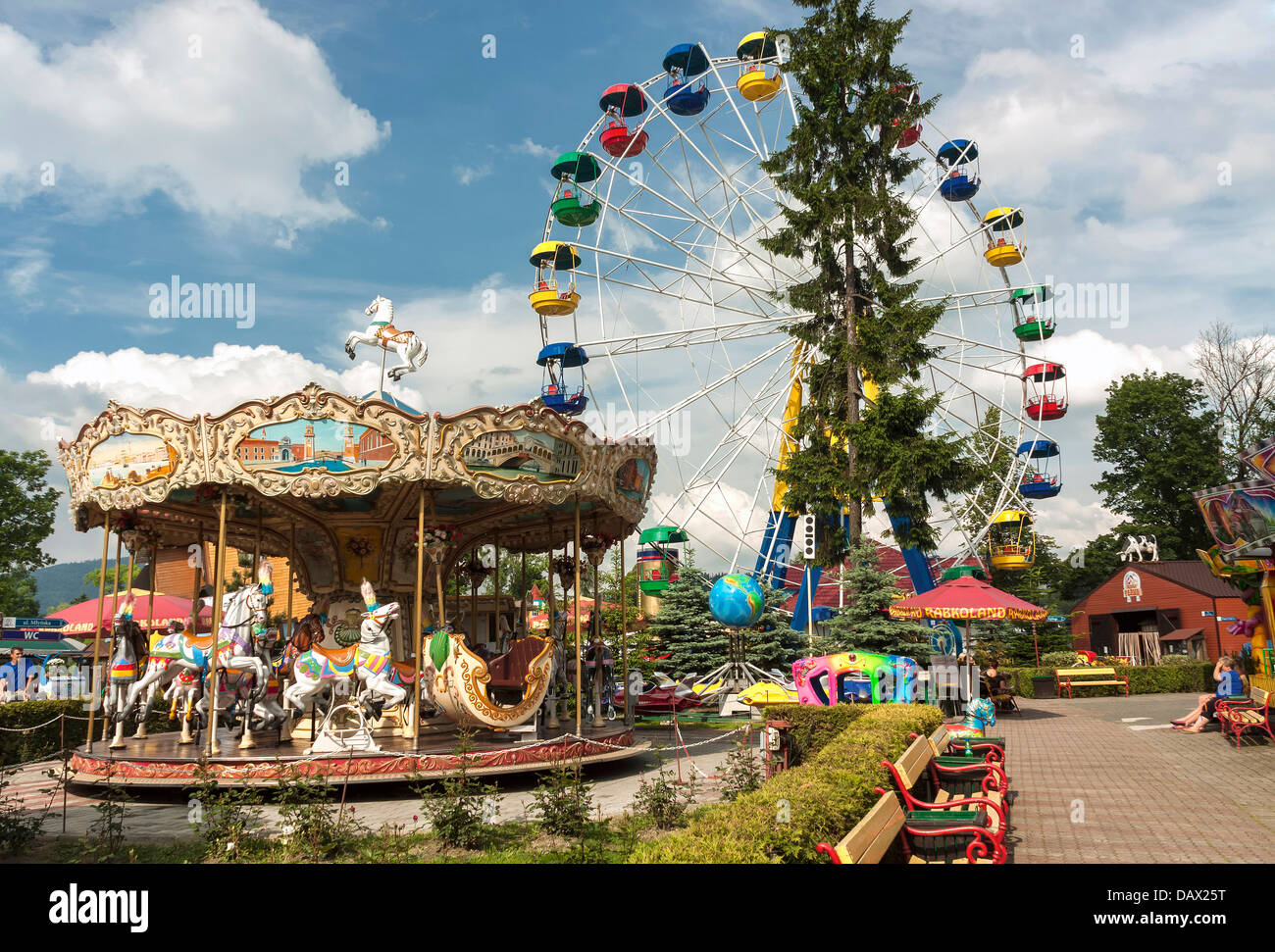 Wspólne Rabkoland Amusement Park, Rabka-Zdrój, Poland Stock Photo  YA-57