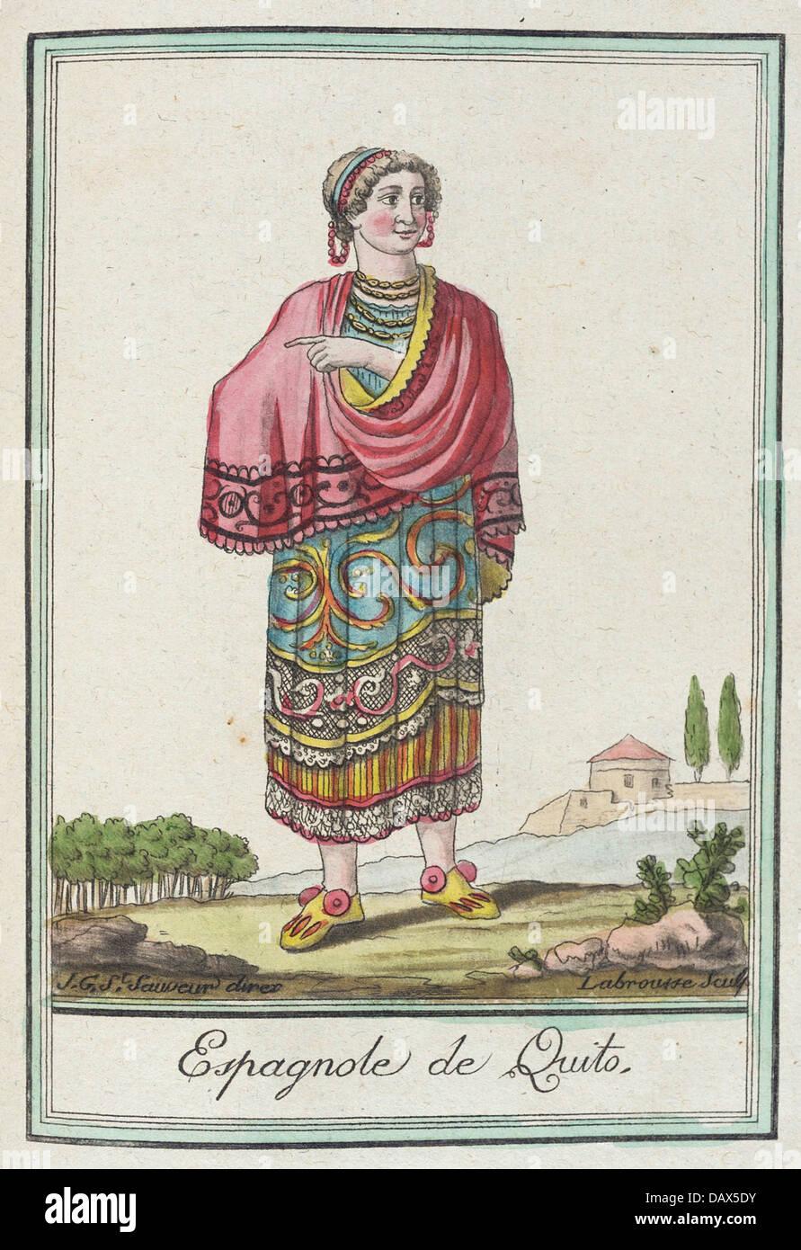 Costumes de Differents Pays, 'Espagnole de Quito' M.83.190.360 - Stock Image