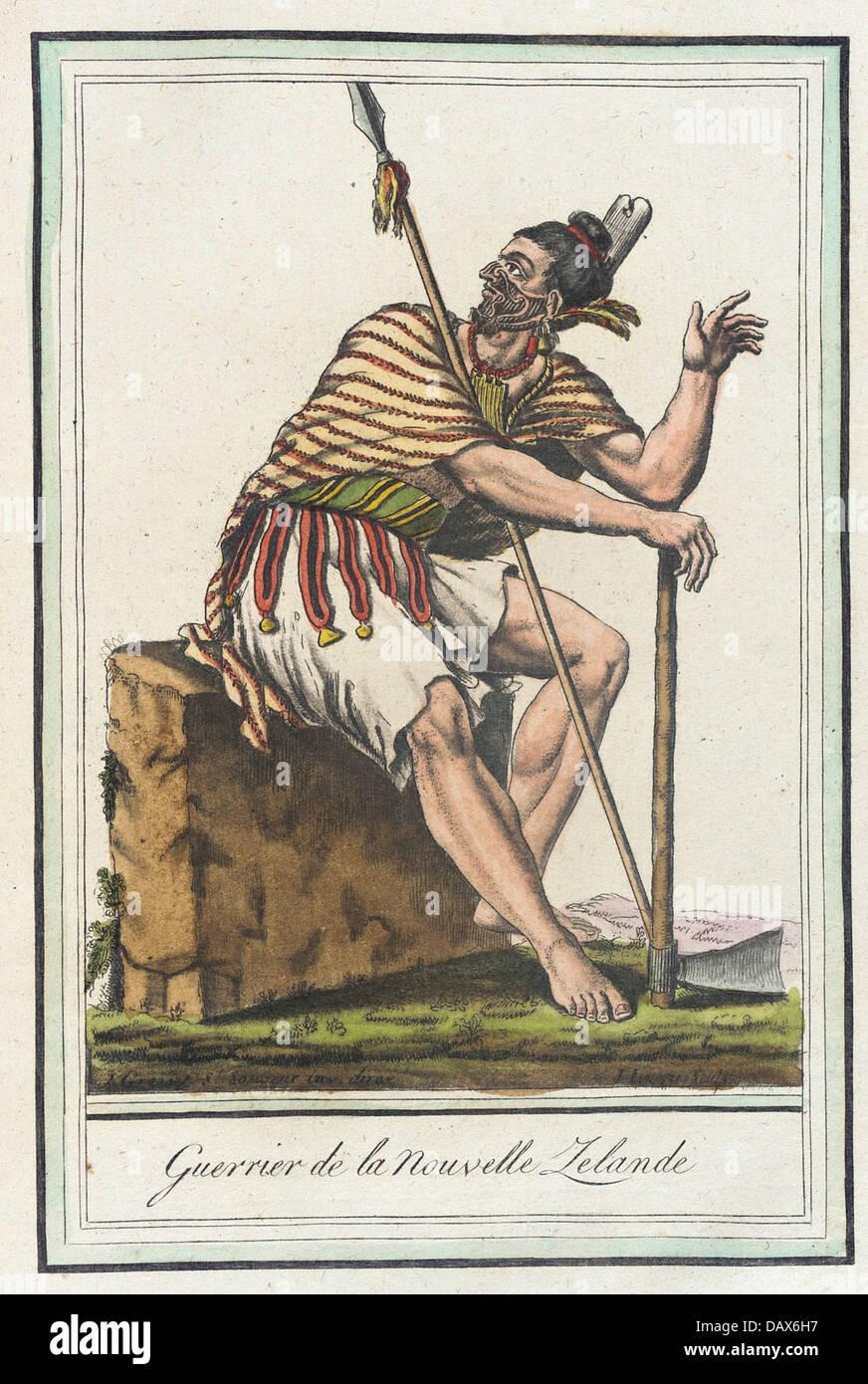 Costumes de Differents Pays, 'Guerrier de la Nouvelle Zelande' M.83.190.389 - Stock Image