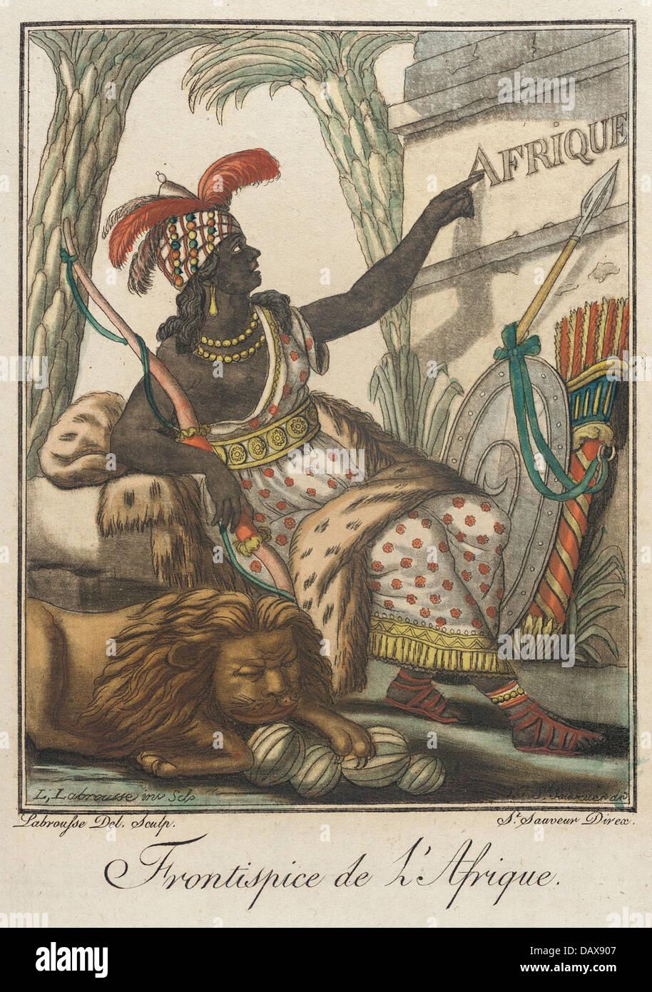 Costumes de Different Pays, 'Frontispice de l'Afrique' M.83.190.271 - Stock Image