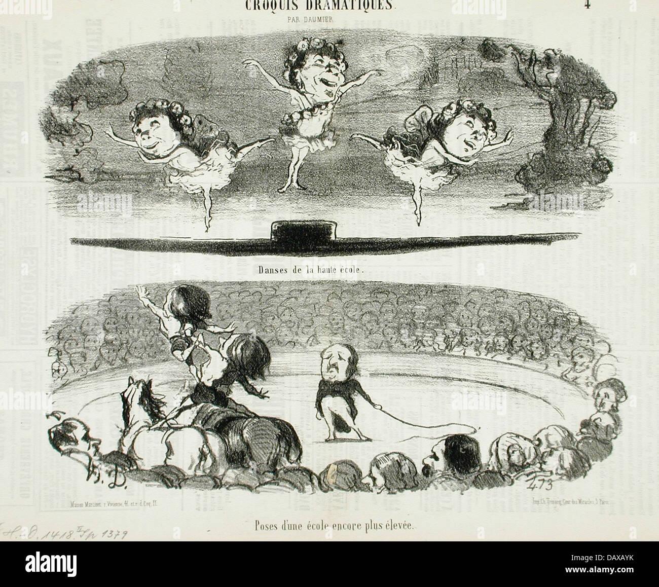 Danses de la haute ecole - Poses d'une ecole... M.91.82.273 - Stock Image