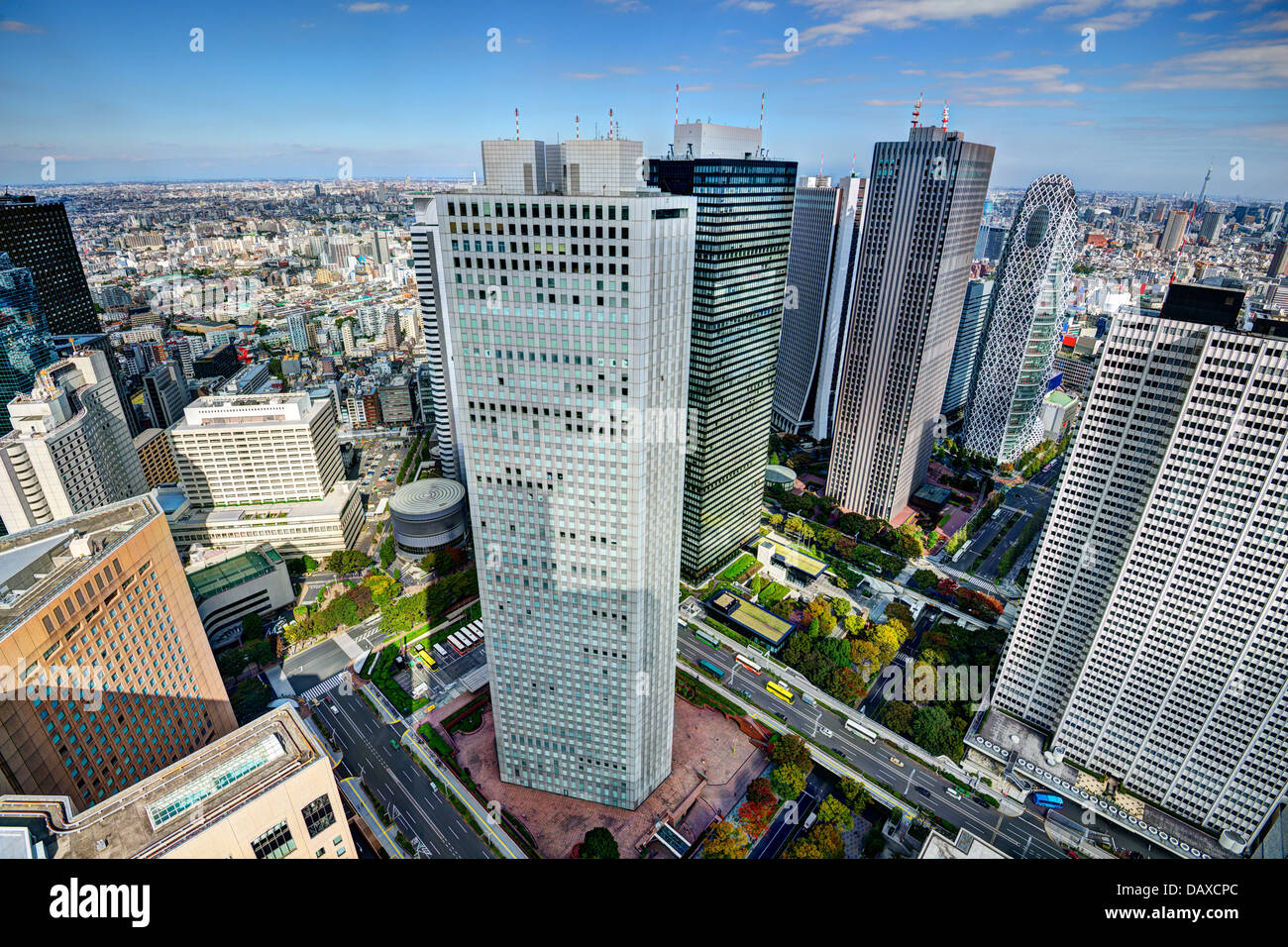 e Shinjuku financial district of Tokyo, Japan. - Stock Image