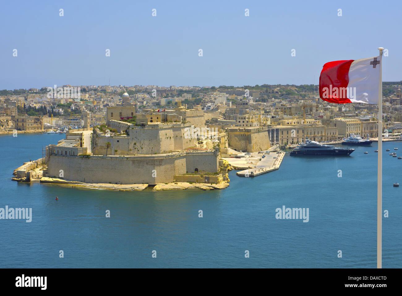 View Of Grand Harbour, Valletta, Malta. - Stock Image