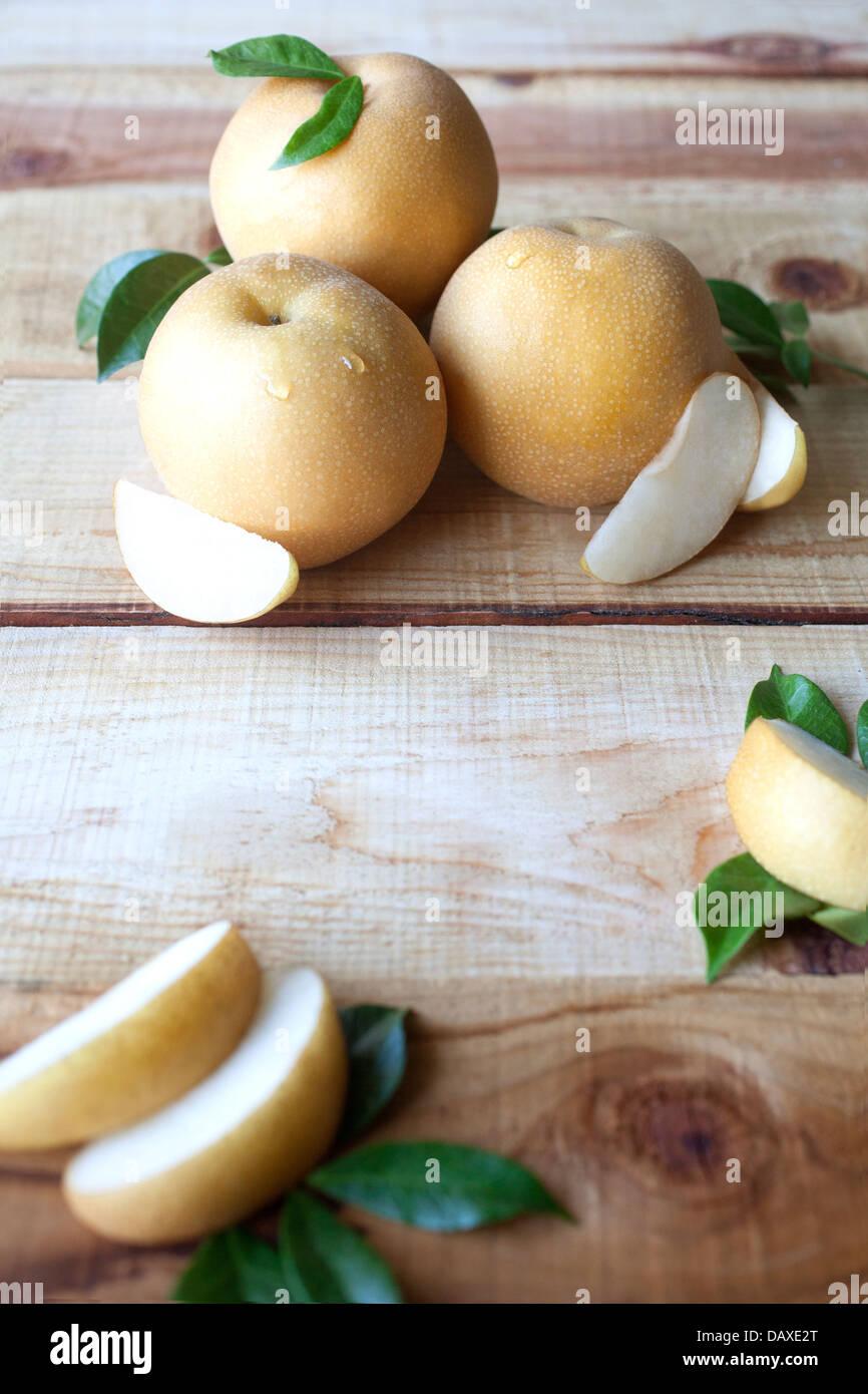 Pear still life - Stock Image