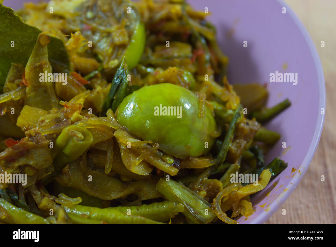 Thai Cuisine Kaeng Hor ( Northern mixed curry ) Stock Photo
