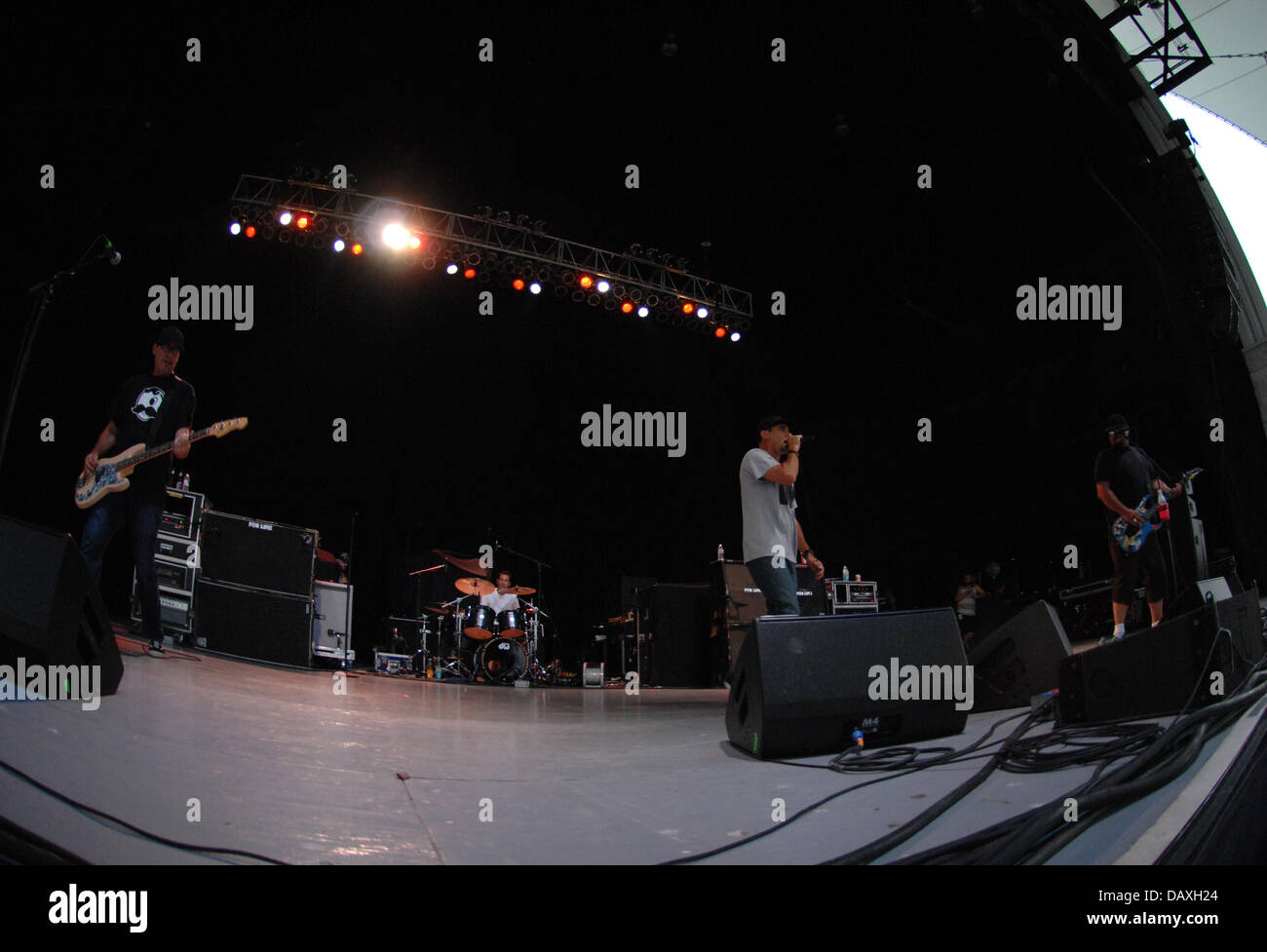 Portsmouth, Virginia, USA. 18th July, 2013. Pennywise live at The Ntelos Pavilion in Portsmouth. Credit:  Jeff Moore/ZUMAPRESS.com/Alamy Stock Photo