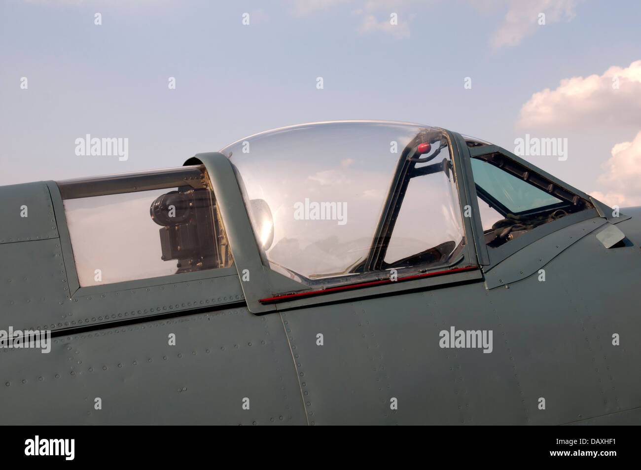Mk XI Spitfire aircraft cockpit - Stock Image