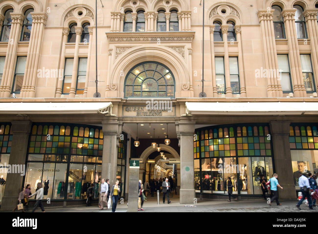 Queen victoria building, a Romanesque Revival building was constructed between 1893 and 1898.here viewed from market - Stock Image