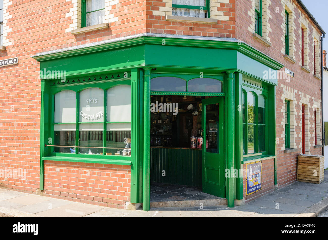 An old fashioned corner sweet shop - Stock Image