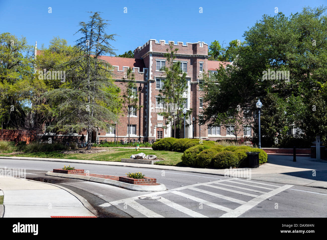 Sledd Hall red brick building listed on Register of Historic Places on University of Florida UF campus in Gainesville, - Stock Image