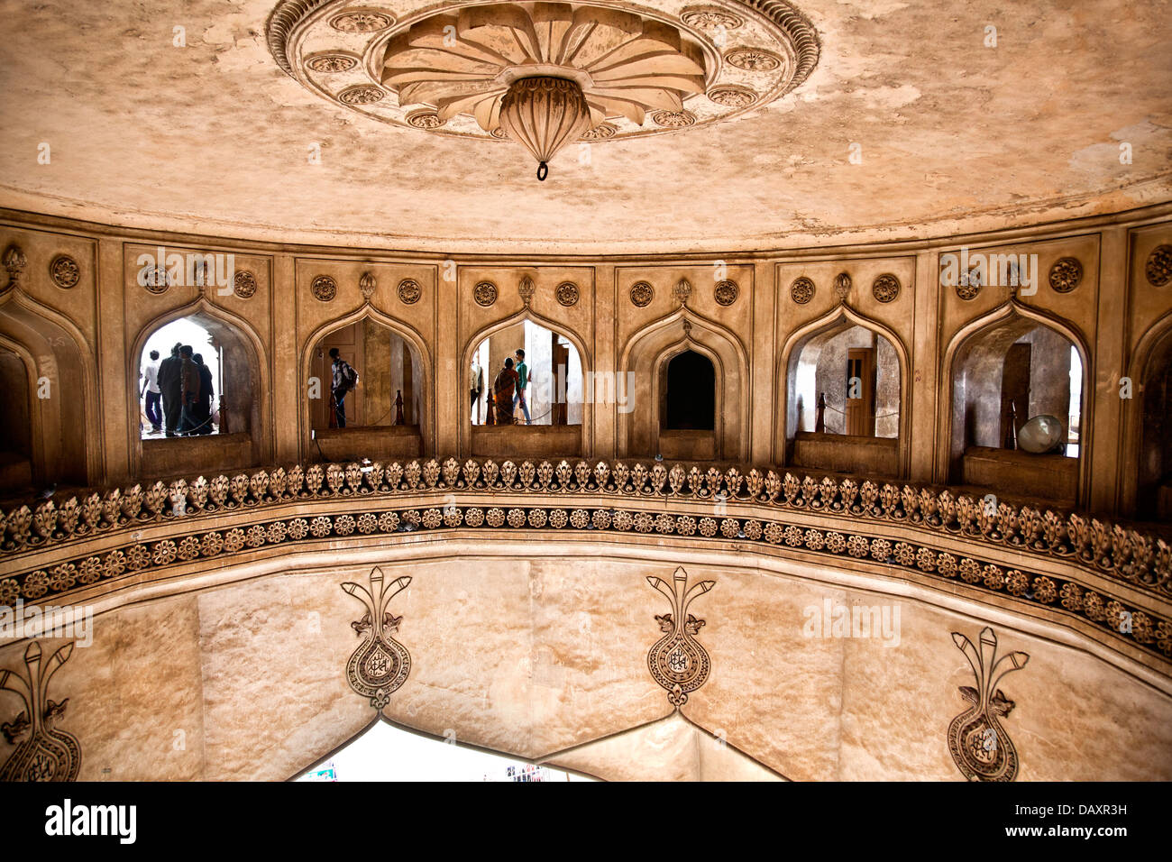Interior Of The Charminar Charminar Hyderabad Andhra Pradesh Stock Photo Alamy