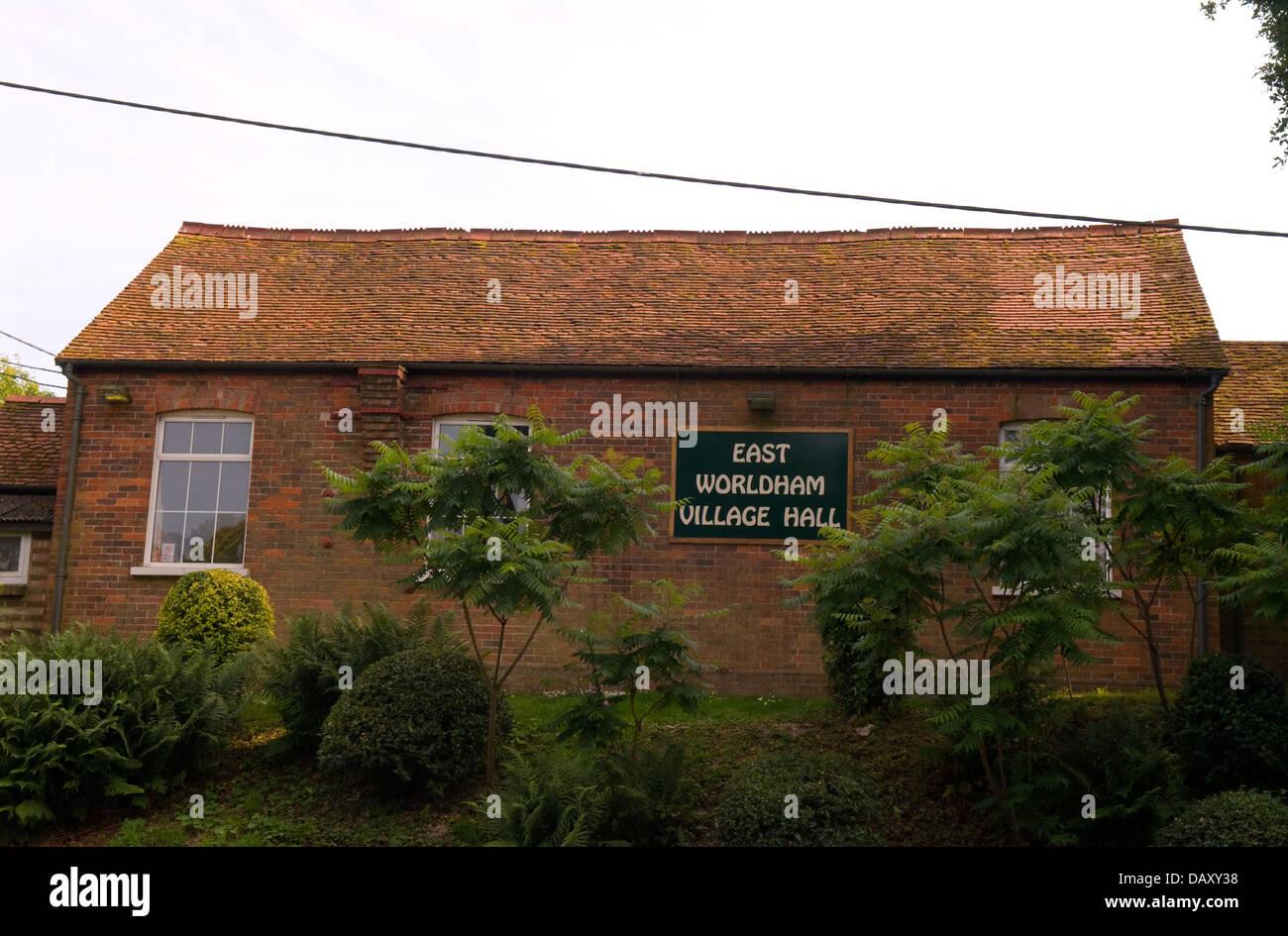 General view of East Worldham Village Hall, East Worldham, Hampshire, UK. - Stock Image