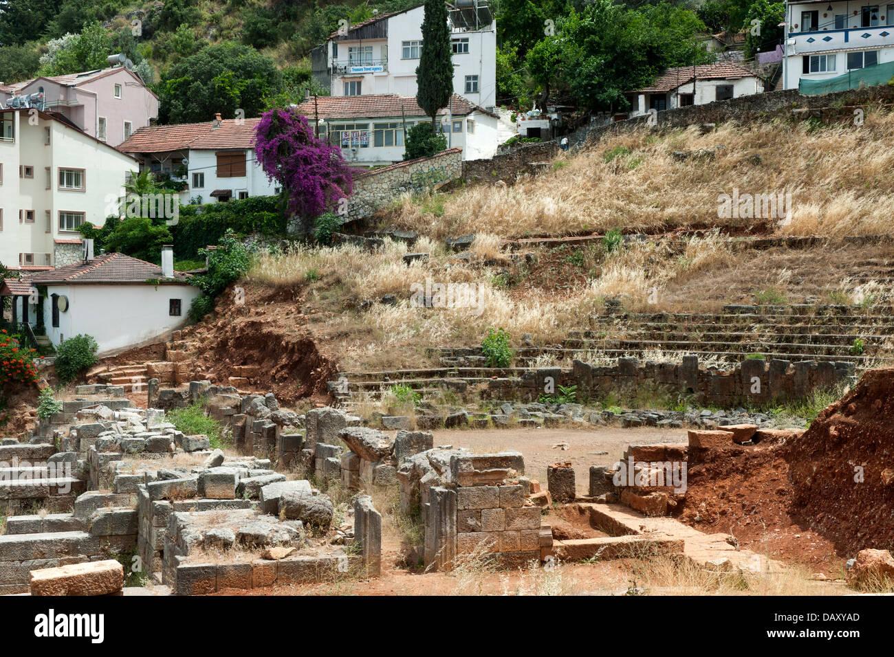 Türkei, Provinz Mugla, Fethiye, antikes Theater - Stock Image